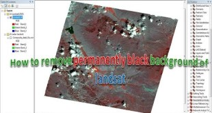 How to remove permanently black background of landsat on ArcGis