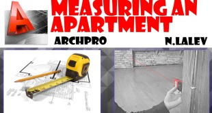 Measuring an apartment and drawing it with Autocad.