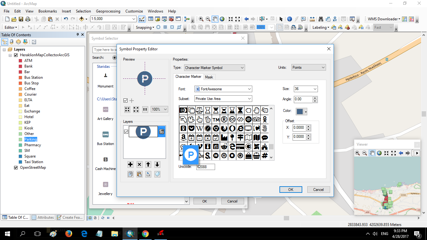 How to create custom awesome symbols in arcmap using the truetype picture 09 biocorpaavc Images