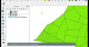 QGIS – v.generalize.smooth – Smooth vectorized layer