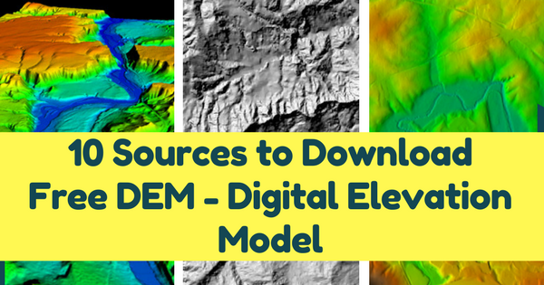 Sources To Download Free DEM Digital Elevation Model - Aster gdem free download