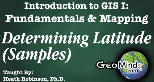 GIS Fundamentals and Mapping 10: Determining Latitude – Sample Problems