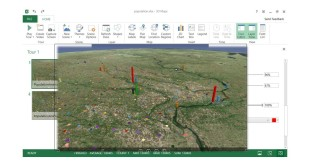 Excel 2016 Visualize data in 3d maps
