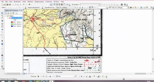 Georeferencing Survey Of India Toposheet using ESRI's Arcgis Software