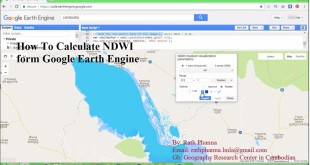 How To Calculate NDWI form Google Earth Engine