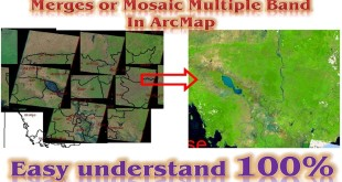 How to mosaic multiple band in ArcMap | How to merges multiple band in ArcGIS