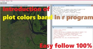 How to plot multi-band color image rasters in R | Plot RGB color composite in R program