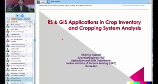 03 RS & GIS Applications in Crop Inventory & Cropping System Analysis