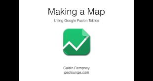 5-Minute Cartography: How to Make a Map with Excel Data Using Google Fusion Tables
