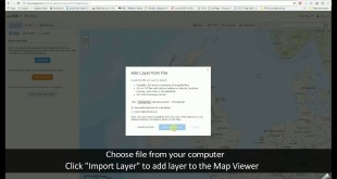 Adding Data to the ArcGIS Online Map Viewer – Adding data from file via the map viewer