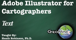 Adobe Illustrator for Cartographers 31: Text