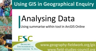 Analysing Data – Using the summarise within tool in ArcGIS Online