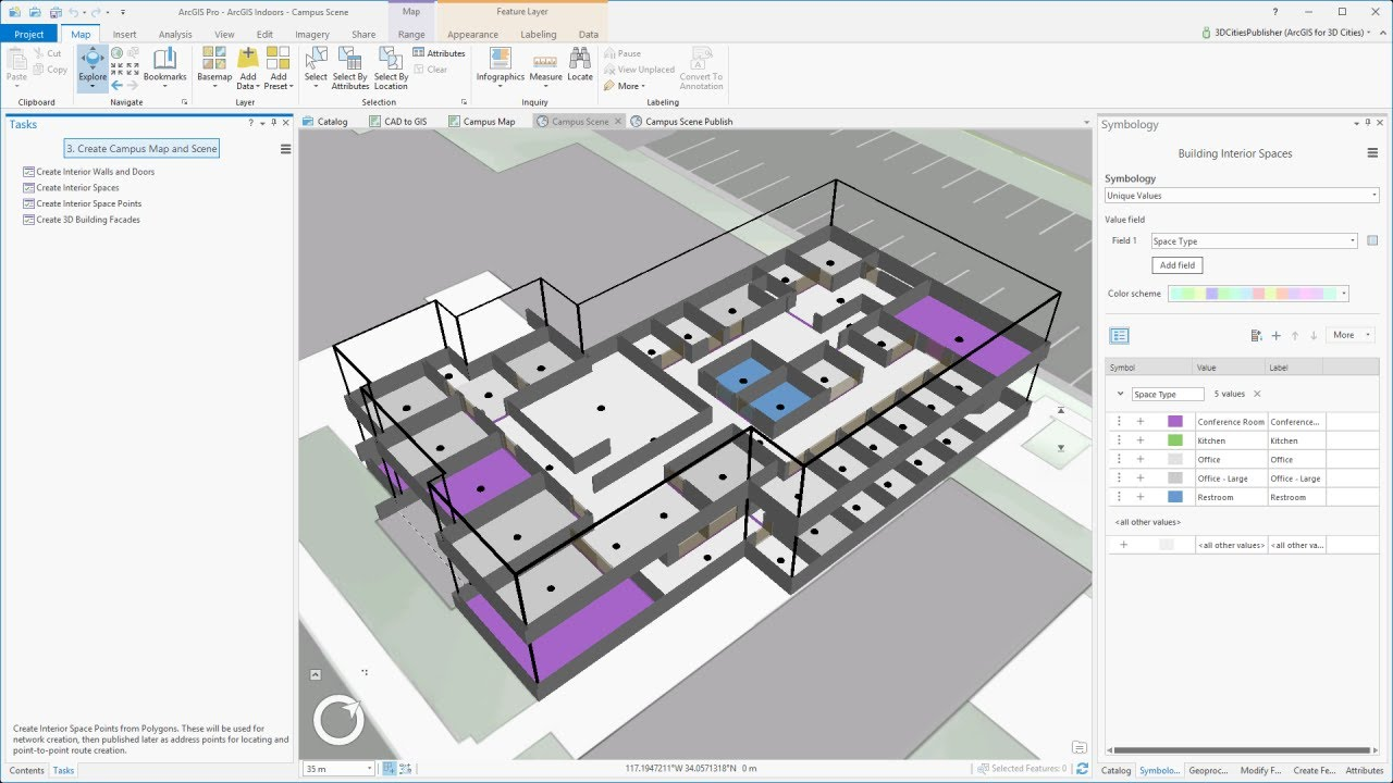 Arcgis Indoors Create A Campus Map And Scene