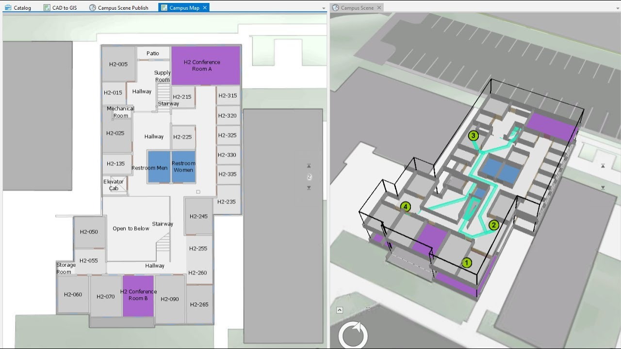 Arcgis indoors create a campus network for 3d building creator