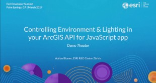 Controlling Environment & Lighting in your ArcGIS API for JavaScript App