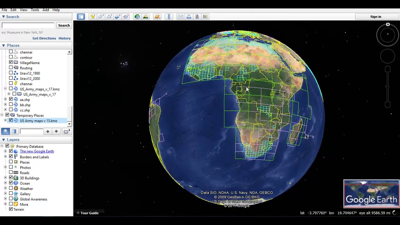 Download Topographic Maps Using Google Earth Pro - Us topo maps for google earth