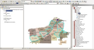 Using the buffer tool for automatic shapefile creation