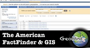 GIS Fundamentals and Mapping (Lab): The American FactFinder and GIS