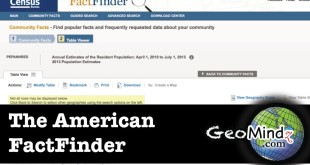 The American FactFinder (GIS Fundamentals and Mapping [Lab 2])