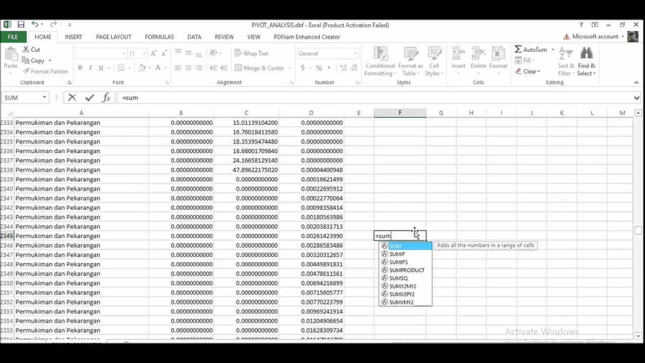 creating pivot table and perform crosstab analysis in arcgis and ms