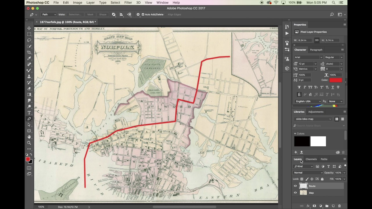 how to animate a route on a map using photoshop