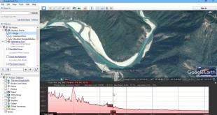 Generate Elevation Profile in Google Earth Pro – Case Study of Rivers in France & India