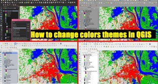 How to change colors themes in QGIS 3.0 | Load QSS – UI themes | color background in qgis