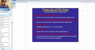 15 Nov 2017 RS application in agriculture crop inventory and Yield forecasting by Dr. N. R. Patel