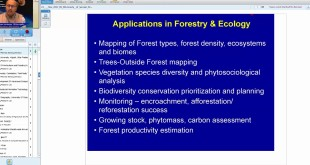 21 Nov 2017 RS GIS Applications in Forestry and Ecology by Dr. Sarnam Singh