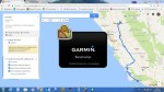 How to send direction roads from google maps to GPS Devices