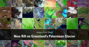 Image of the Week – New Rift on Greenland's Petermann Glacier