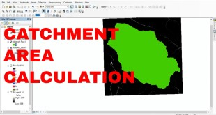 Catchment area above specified elevation (3000m). Use of Raster Calculator.