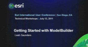 Esri 2011 UC Tech Session: Getting Started with ModelBuilder