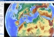 Google Earth Map Overlays road maps, terrain relief and contour maps