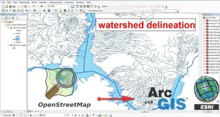 How to download watershed delineation from OpenStreetMap for ArcGIS