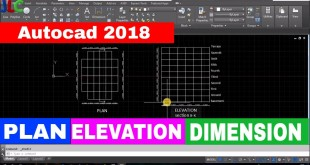 Autocad 2018|Drawing line plan and elevation of building|Dimensioning in autocad